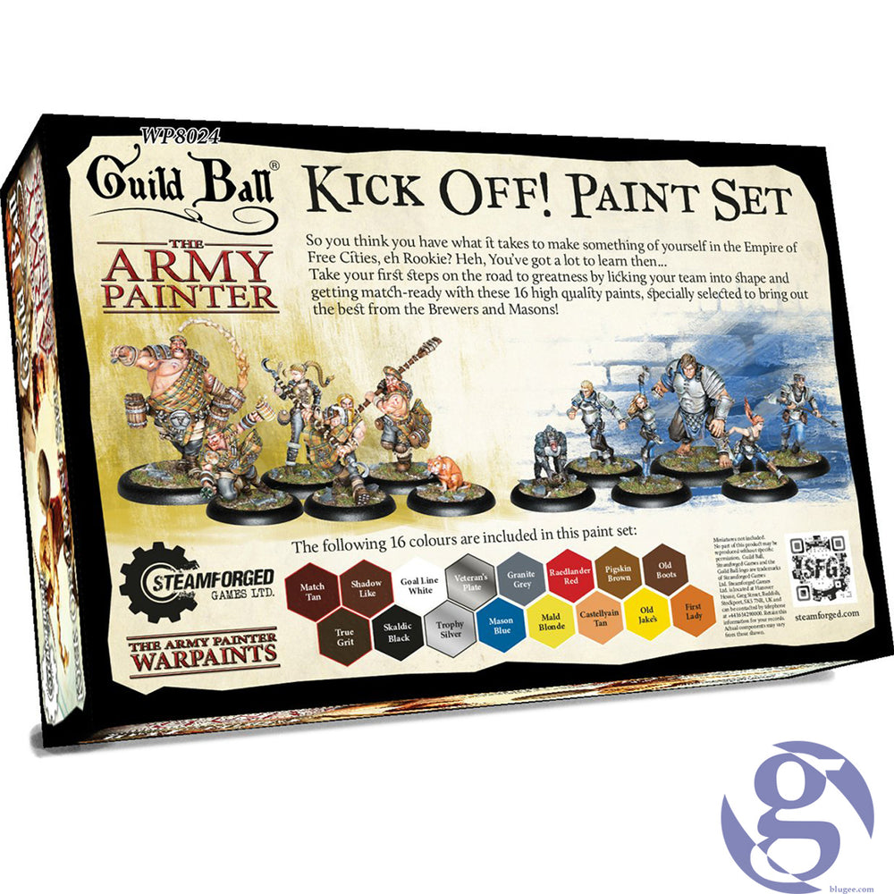 Steamforge Games: WP8024 - Guild Ball Kick OFF! Paint Set by The Army Painter