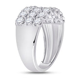 14kt White Gold Womens Round Diamond Anniversary Band Ring 2 Cttw