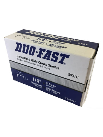 Genuine Duo-Fast Staples 1/4""