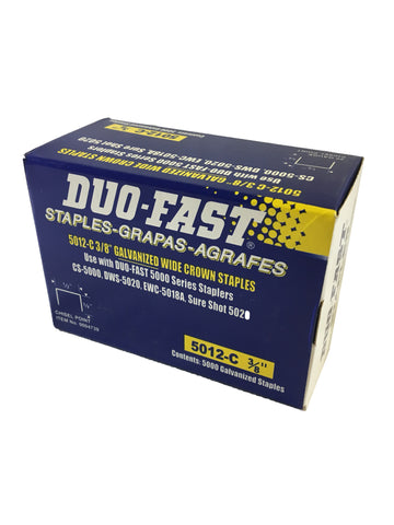 Genuine Duo Fast Staples 3/8""