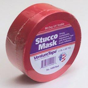 "2"" x 55 yd. Stucco Mask Tape (Red)"