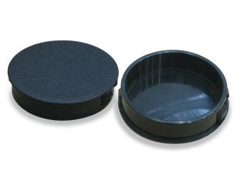 "4"" Regular Black Plastic Plugs"