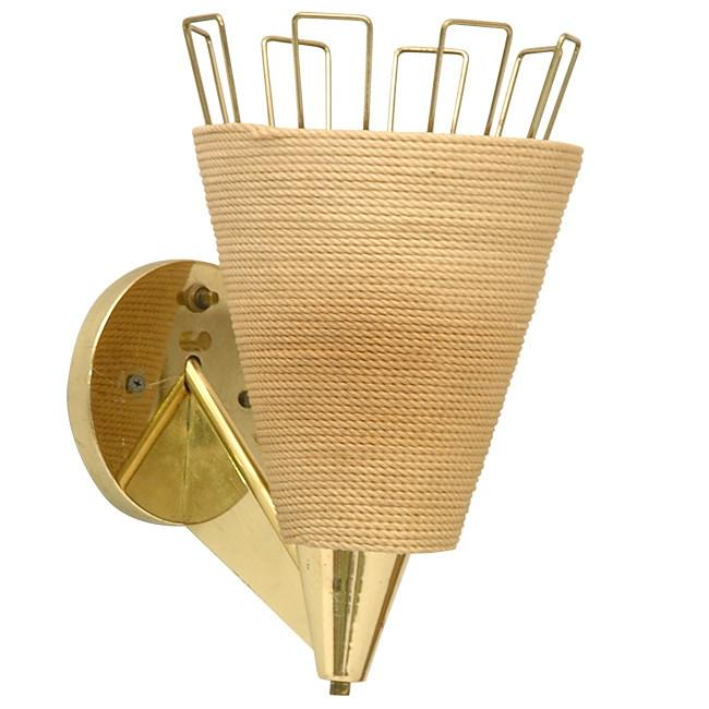 Brass Rope Sconce
