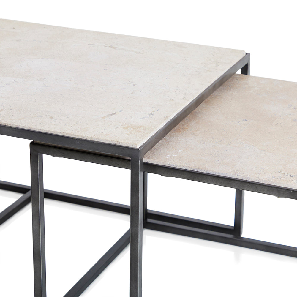 Grey Slate Nesting Coffee Tables Modernica Props