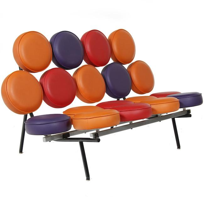 Multi-Colored Marshmallow Loveseat