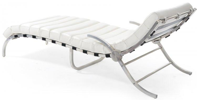 White Segmented Chaise