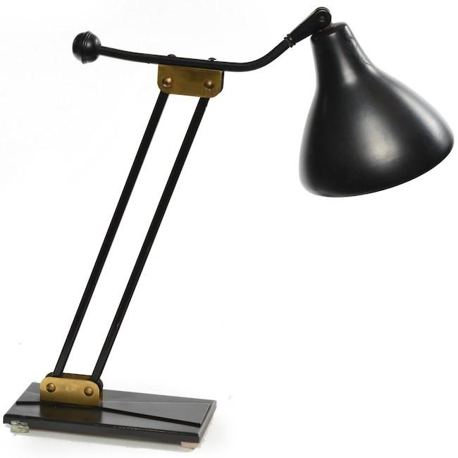 Black Hinged Desk Lamp