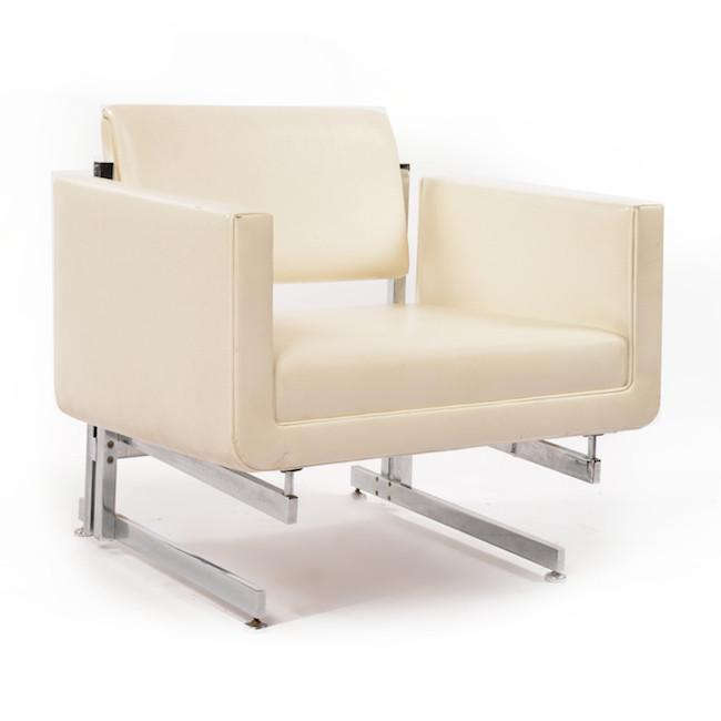 White Floating Arm Chair