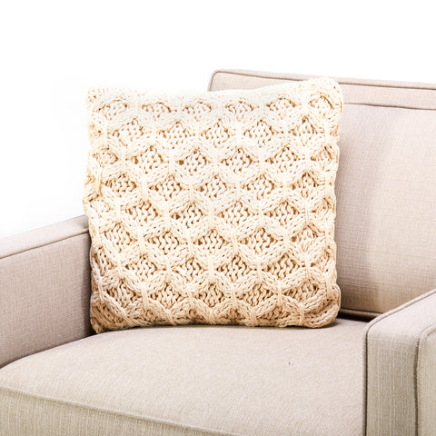 Beige Thick Knit Pillow