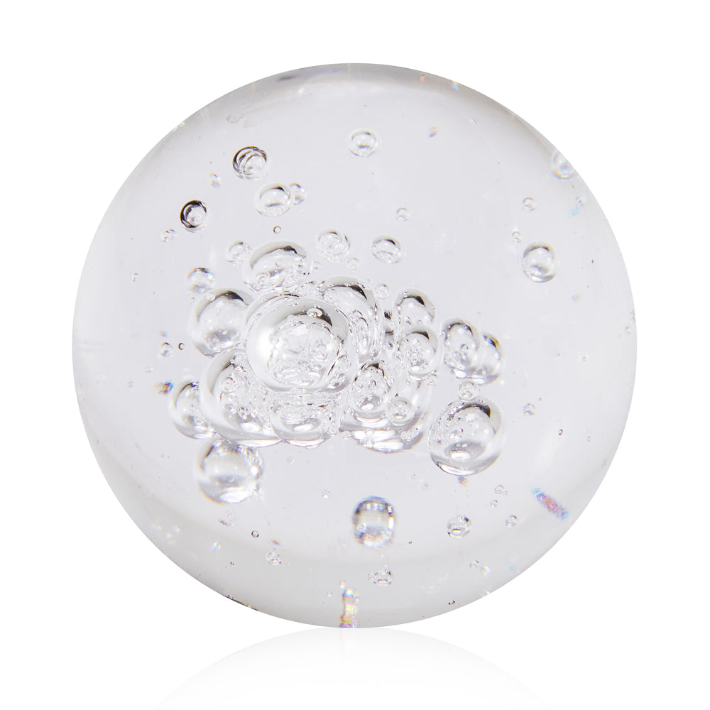 Glass BFA Bubble Paper Weight