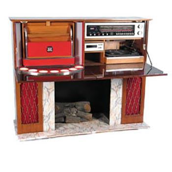 Faux Mantle Fireplace & Entertainment Center