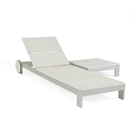 White Outdoor Recliner