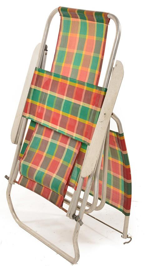Plaid Outdoor Sun Chair