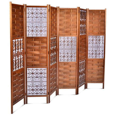 Wooden Six-Panel Screen