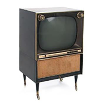 Zenith TV with Wood Cabinet