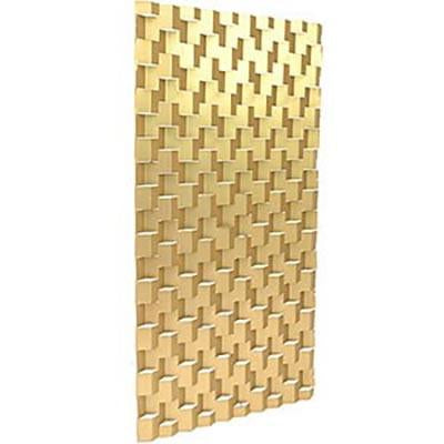 Gold Aluminum Cutout Screen Panel