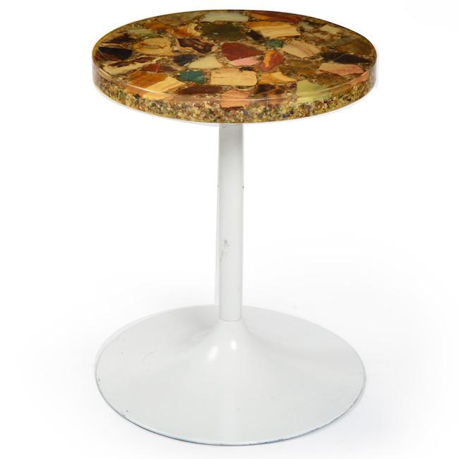Resin Small Round Side Table