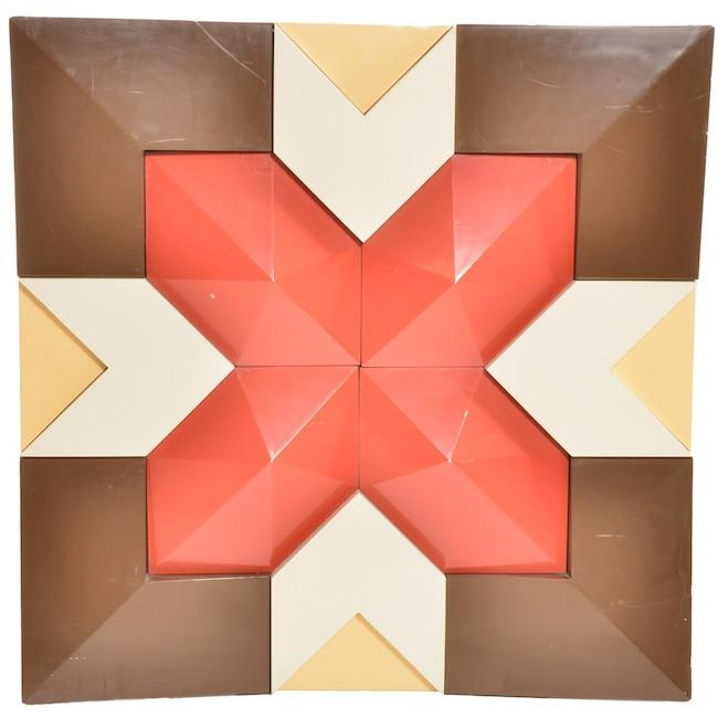 Geometric 3D X Wall Sculpture