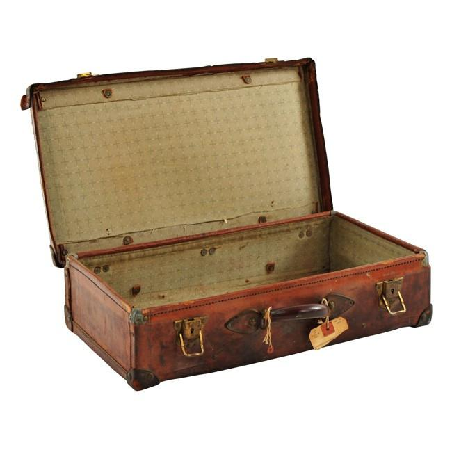 Brown Distressed Suitcase