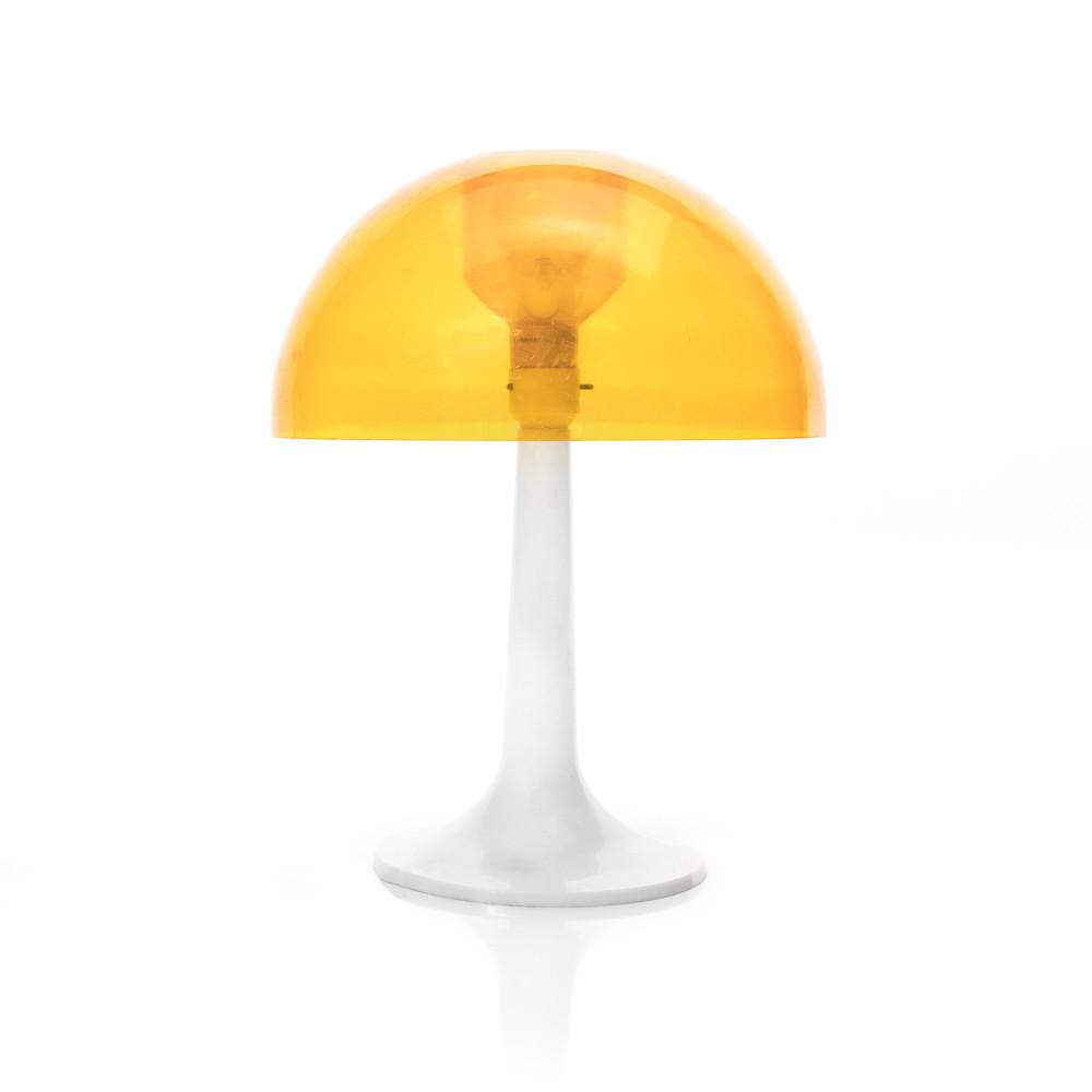 Plastic Yellow Table Dome Lamp