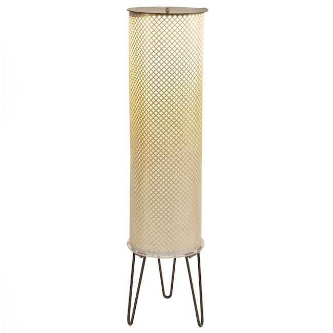 Patterned Metal Cylinder Floor Lamp