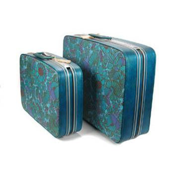 Blue Floral Luggage