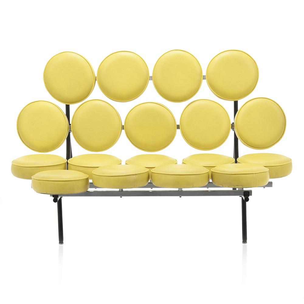 Yellow Marshmallow Loveseat