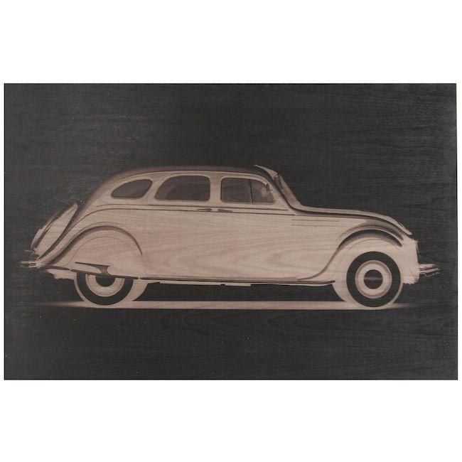 "100-790 Walnut Chrysler Airflow (36"" x 24"")"