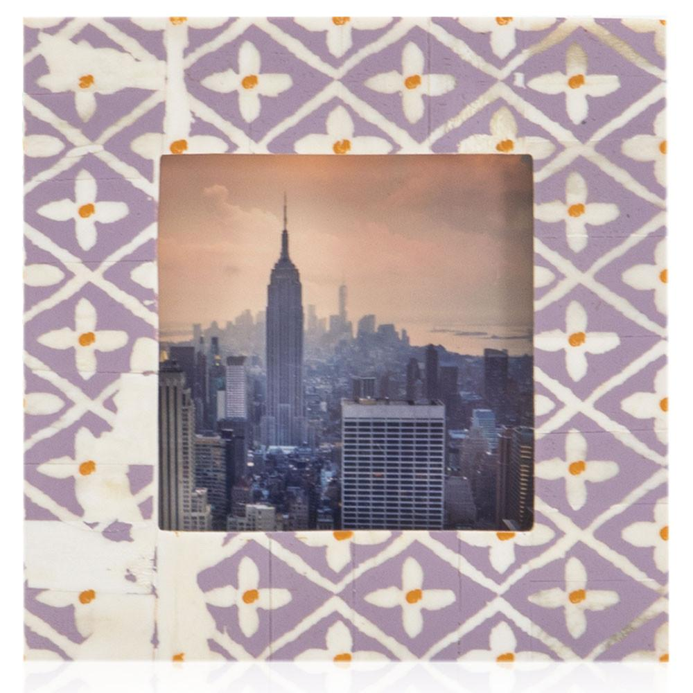 "BFA  100-922 City Skyline Purple Mosaic (6"" x 6"")"