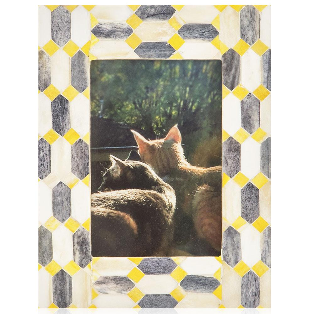"BFA  100-928 Kitties Sunset Yellow Mosaic (6.5"" x 8.5"")"