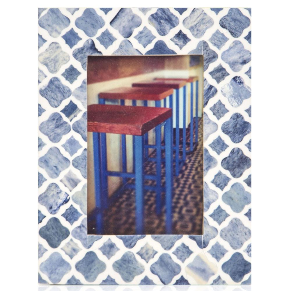 "BFA  100-929 Blue Chairs Blue Mosaic (6.5"" x 8.5"")"
