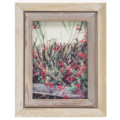 "BFA  100-942 Red Flowers Wood Frame (8"" x 10"")"