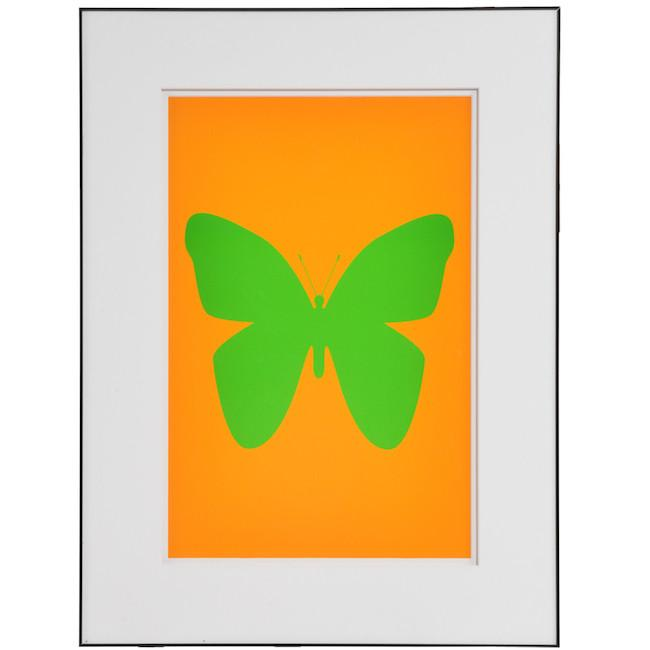 "100-755 Green Butterfly Orange (18"" x 24"")"