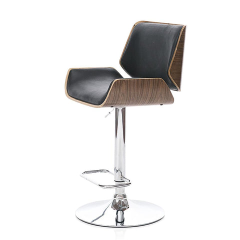 Contemporary Leather Bar Stool