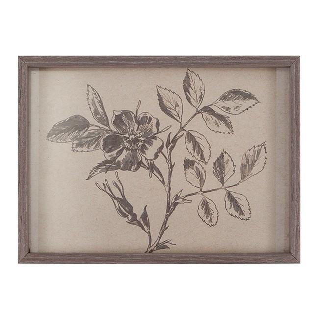 "100-493 Rose Branch Engraving (7"" x 5"")"