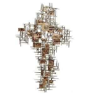 Cross Pattern Wall Sculpture