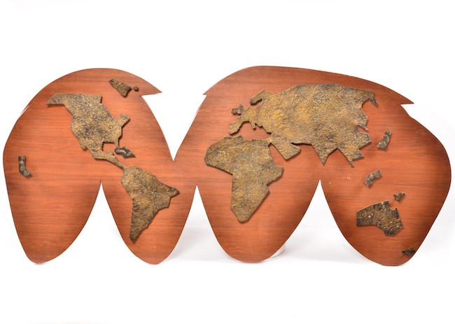 World  - Wood Wall Hanging