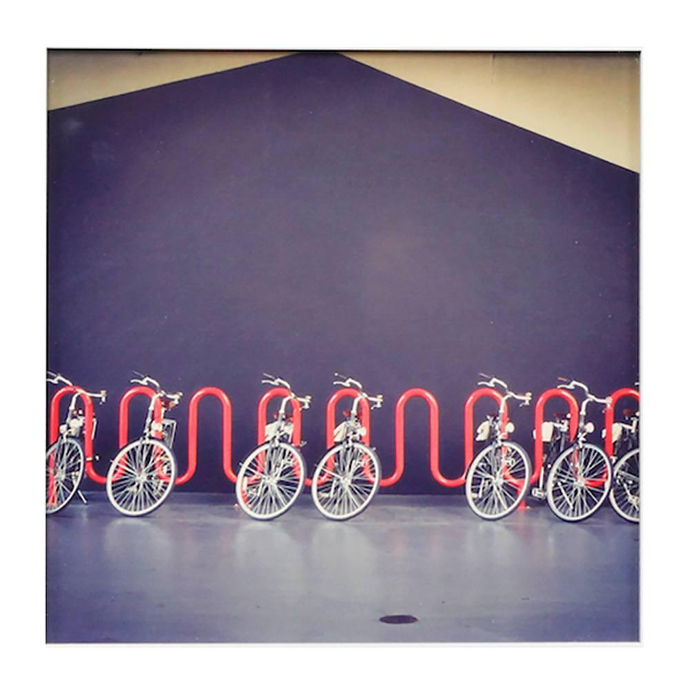 "100-713 The Line Bicycles (14"" x 14"")"