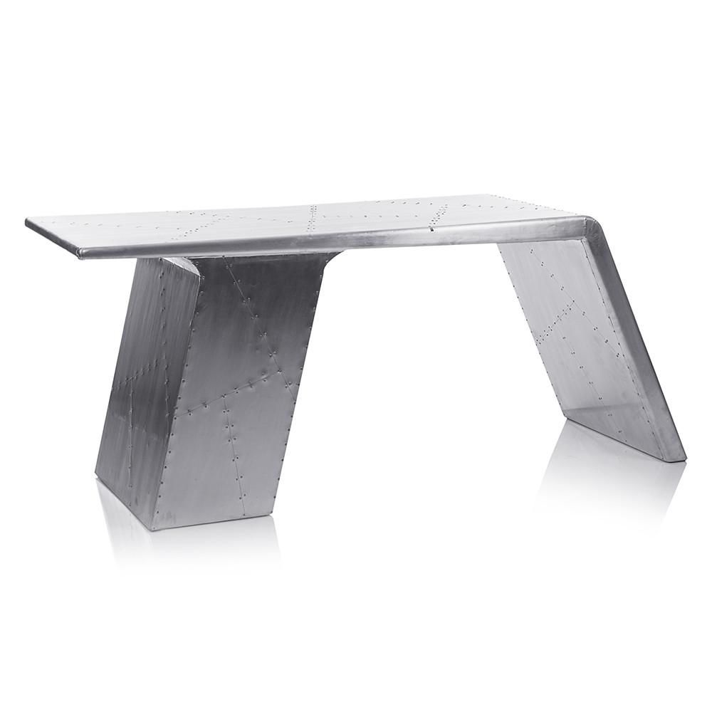 Aviator Hammered Aluminum Desk