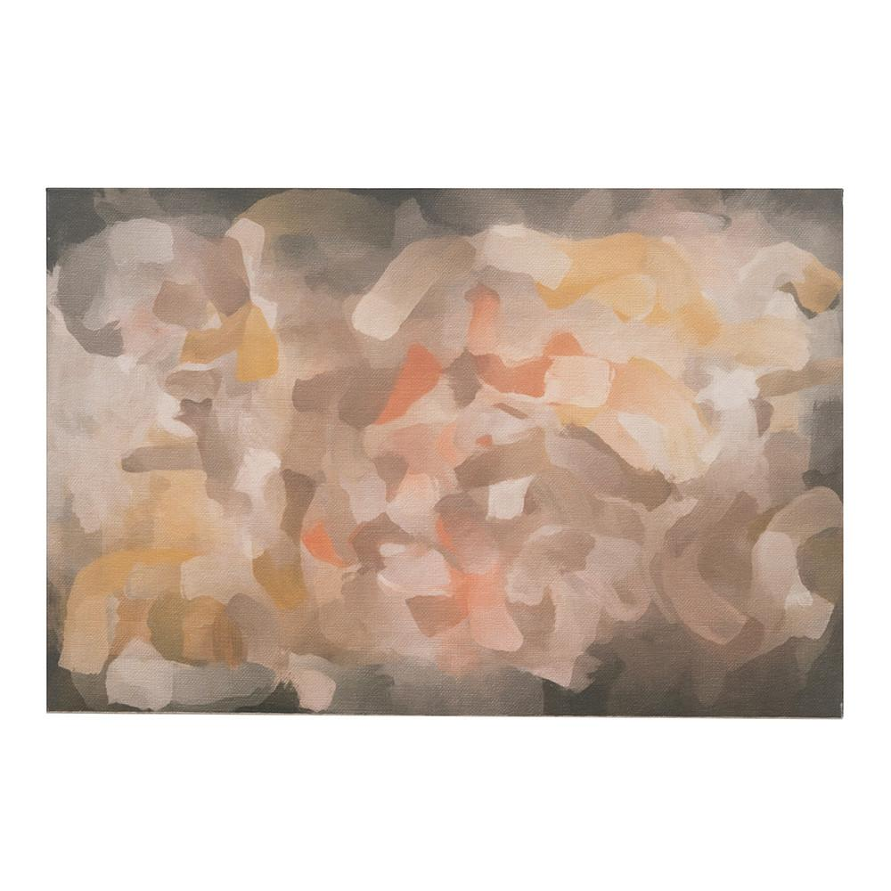"100-874 Brown Orange Yellow Abstract (36"" x 24"")"