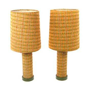 Peach Fabric Table Lamps