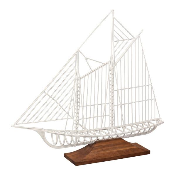 White Wire Jere Sailing Ship