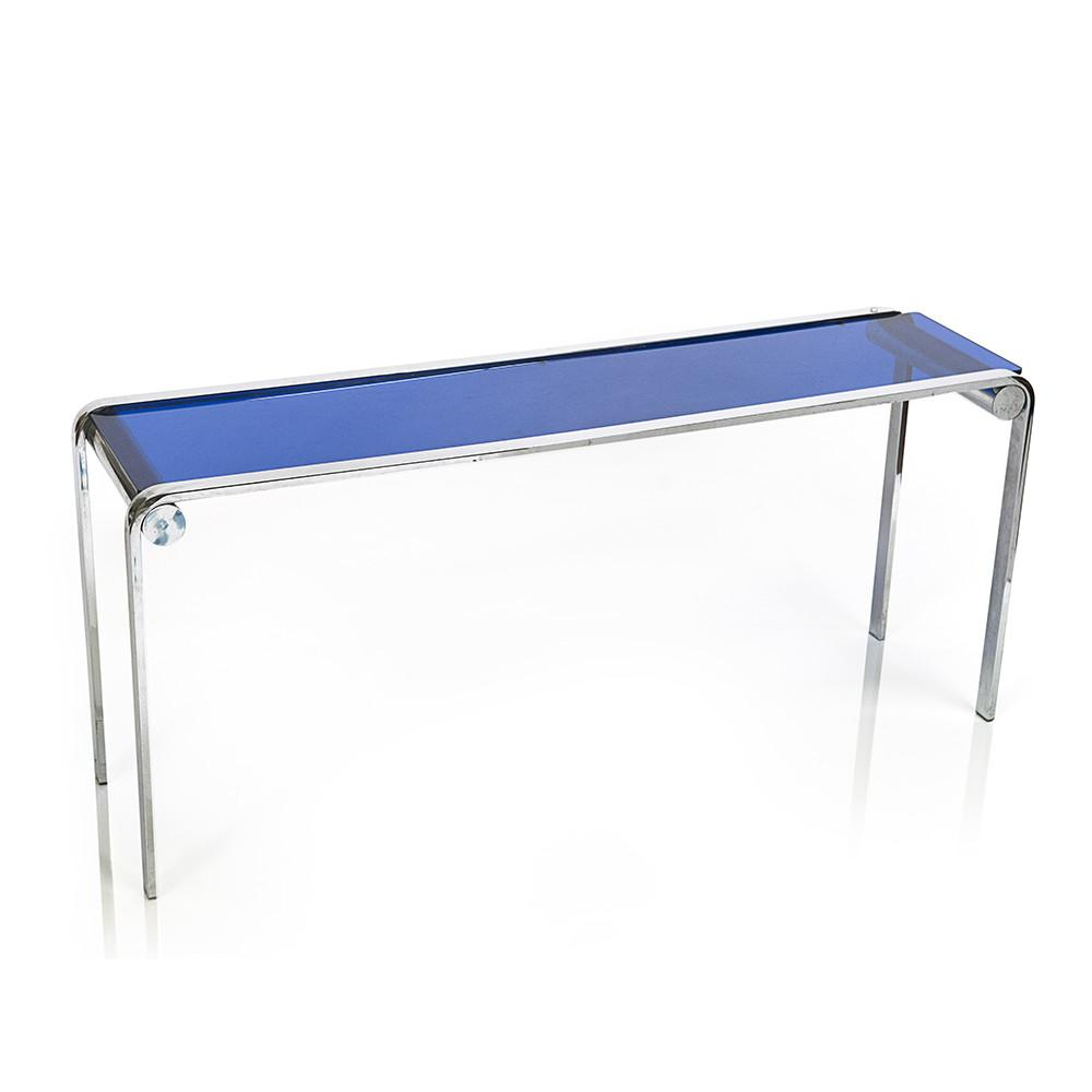 Sofa Blue Glass Table