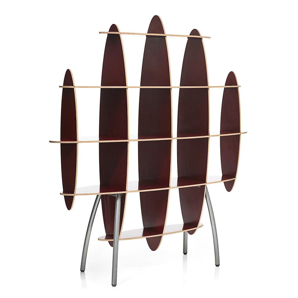 Burgandy Elliptical Shelf Unit