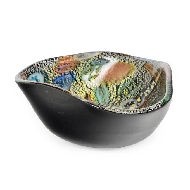 Black Orange Decorative Bowl
