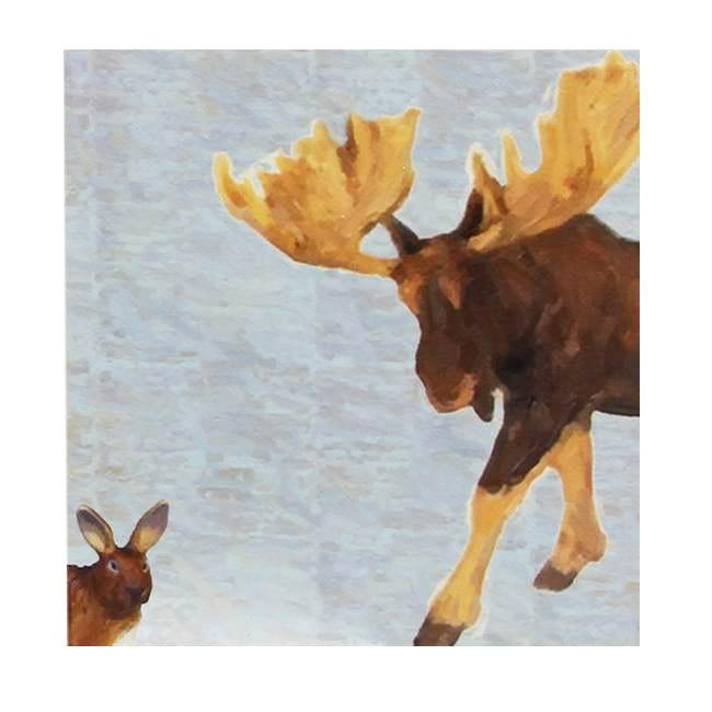 "100-800 Moose Rabbit (10"" x 10"")"