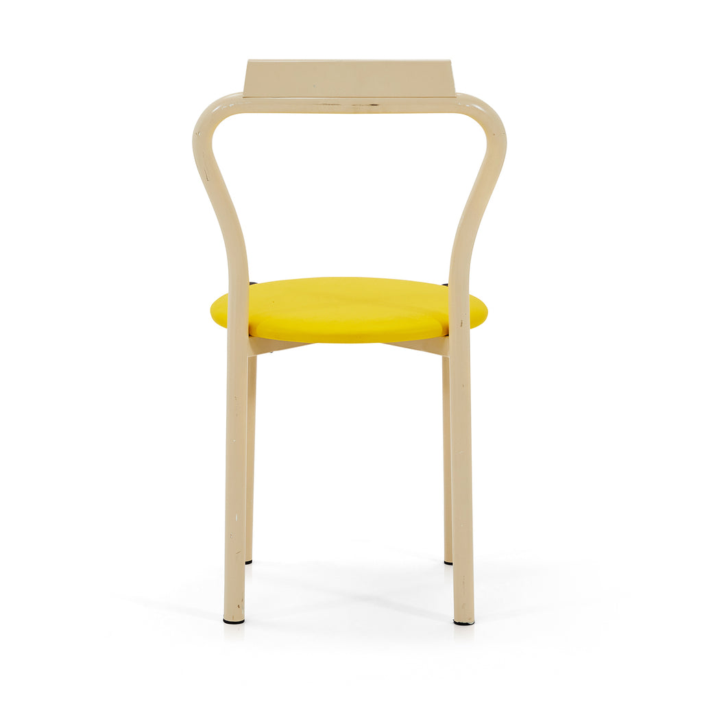 Simple Circle Dining Chair - Yellow