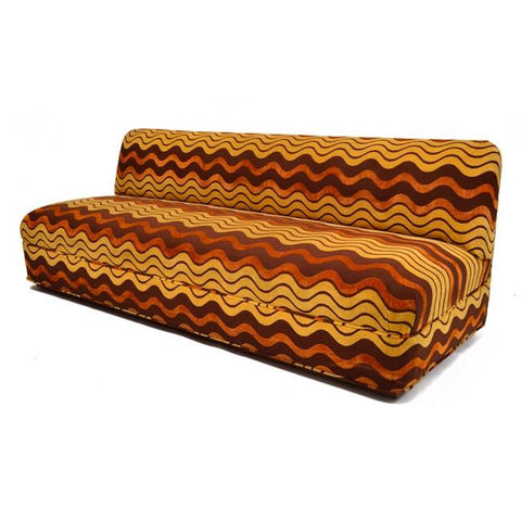 Brown Wave Sofa