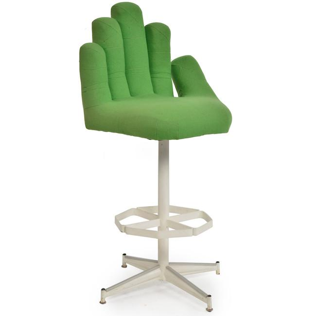 Green Hand Bar Stool