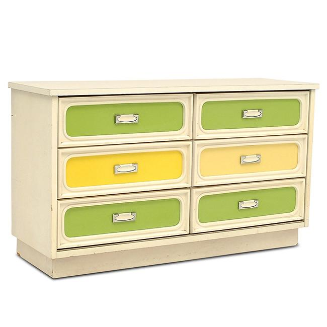 Yellow and Green Dresser